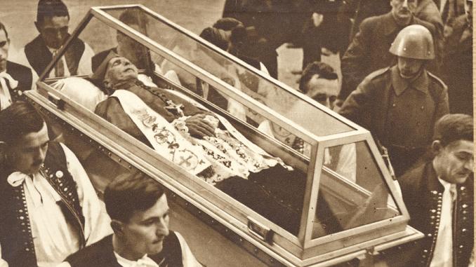 Obr. 2 Takto zomieral slovenský hrdina Andrej Hlinka