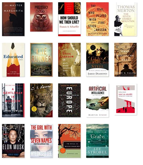 Všetky knihy, ktoré som dočítal v roku 2019